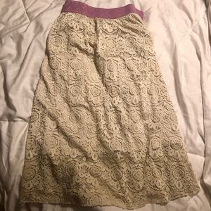 Cream Lace LuLaRoe Lola! XL